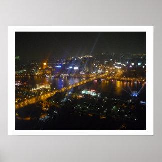 cairo night border print
