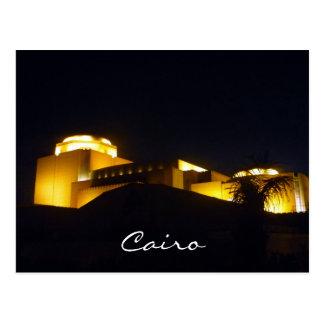 cairo opera night post card