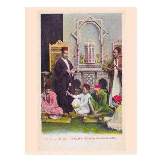Cairo, scuplteur des mou aaharabies 1904 postcard