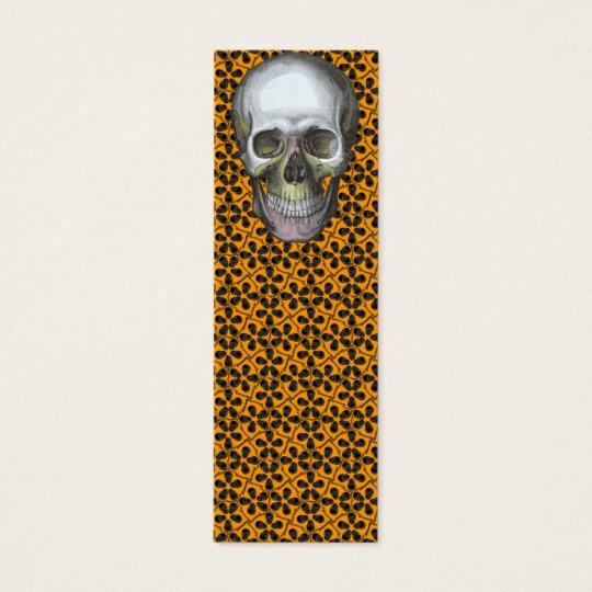 Cairo Sm Black Skulls Bookmark Mini Business Card