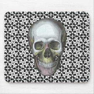 Cairo Sm Black Skulls Mouse Pad