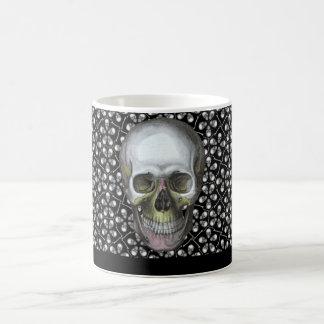 Cairo Sm White Skulls Mug