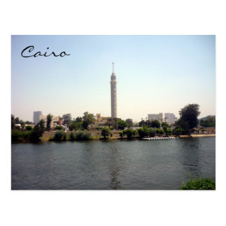 cairo tower river post card