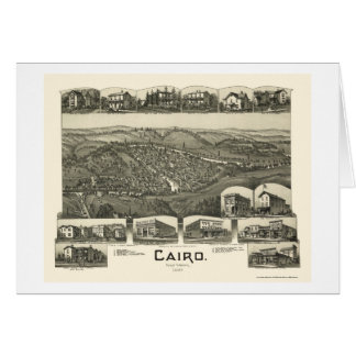 Cairo, WV Panoramic Map - 1899 Card