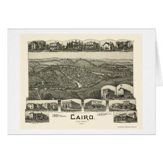 Cairo, WV Panoramic Map - 1899 Greeting Cards
