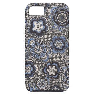 Caisse bleue de fantaisie de téléphone de denim iPhone SE/5/5s case