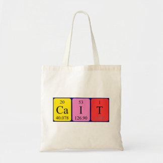 Cait periodic table name tote bag