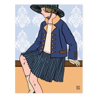 Caitlin en el azul - postales