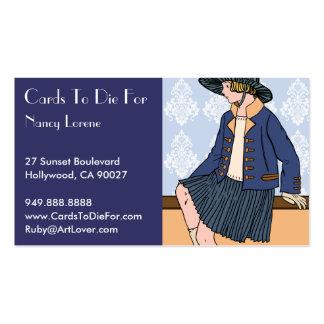Caitlin en el azul - tarjetas de visita