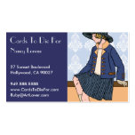Caitlin in Blue - Business Cards