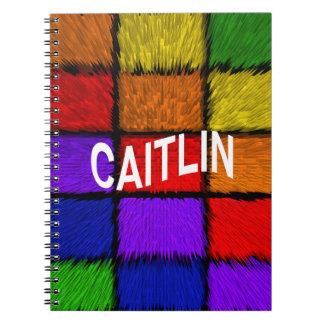 CAITLIN LIBRO DE APUNTES CON ESPIRAL