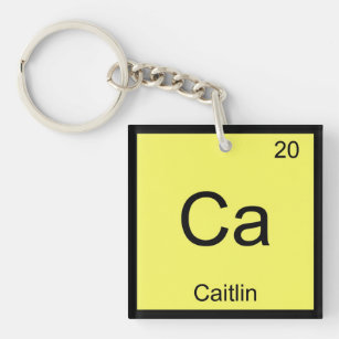 Periodic table keychains zazzle caitlin name chemistry element periodic table keychain urtaz Gallery