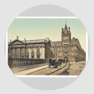 Caius College and Senate House Cambridge England Sticker