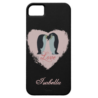 Caixa personalizada amor do pinguim iPhone SE/5/5s case