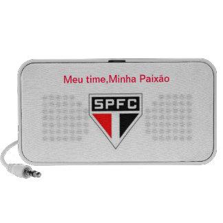 Caixa som São Paulo F.Clube Caixinha De Som Para Laptop