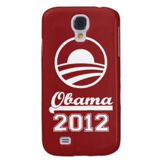 Caja 2012 de la mota del iPhone 3 de OBAMA (marrón Funda Para Samsung Galaxy S4