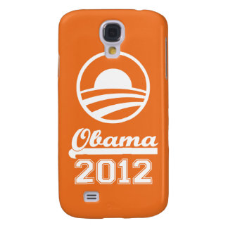 Caja 2012 de la mota del iPhone 3 de OBAMA (naranj Samsung Galaxy S4 Cover