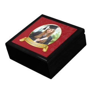 Caja 2012 de regalo de la foto de la graduación (e joyero cuadrado grande
