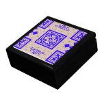 Caja 2012 de regalo del diseñador de los ámbares joyero cuadrado grande