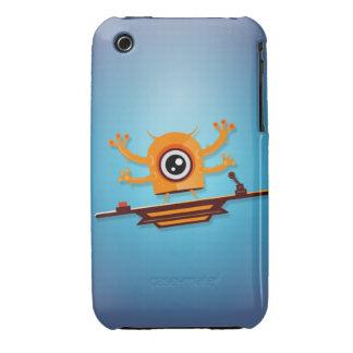 Caja 4 de la casamata de los monstruos de Cutie iPhone 3 Cobertura