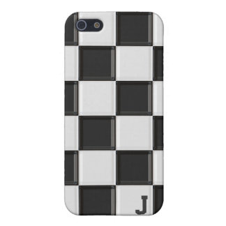 Caja a cuadros blanco y negro del iPhone 4 iPhone 5 Protector