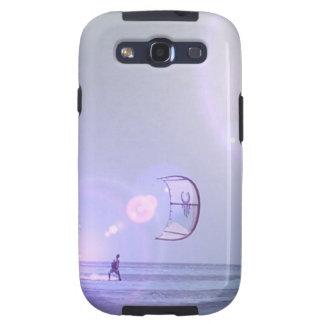 Caja a solas de la galaxia de Kiteboarder Samsung Galaxy S3 Cárcasa