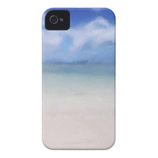 Caja abandonada del iPhone 4S de la playa iPhone 4 Case-Mate Fundas