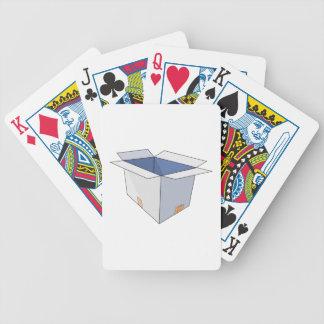 Caja abierta baraja cartas de poker