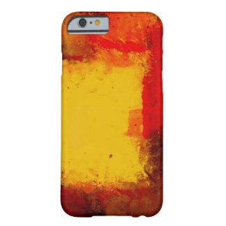 Caja abstracta amarilla roja del iPhone 6 Funda De iPhone 6 Barely There