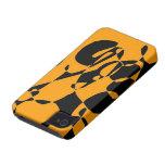 Caja abstracta anaranjada del iphone del modelo Case-Mate iPhone 4 cárcasa
