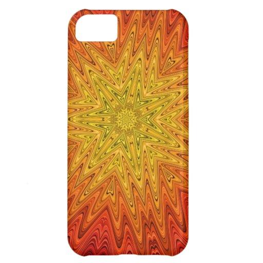 Caja abstracta anaranjada y amarilla del iPhone 5