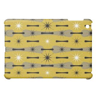 Caja abstracta atómica retra de la mota del iPad