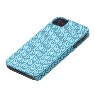 Caja abstracta azul del iPhone 4 del modelo de ond iPhone 4 Case-Mate Protector
