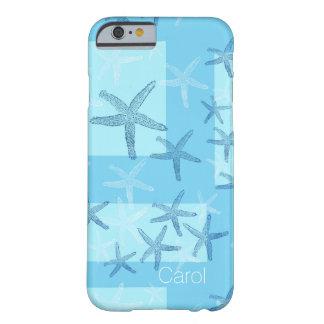 Caja abstracta azul del iPhone 6 de las estrellas Funda Para iPhone 6 Barely There