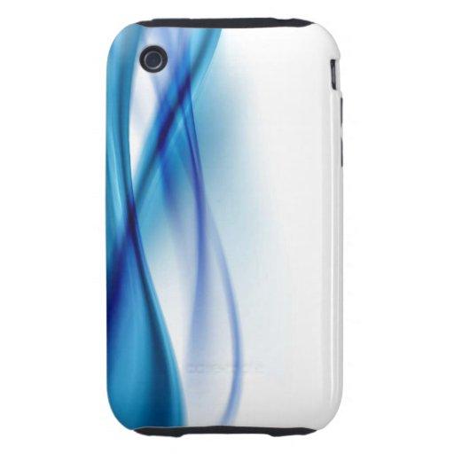 Caja abstracta azul del teléfono tough iPhone 3 coberturas
