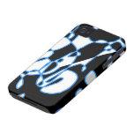 Caja abstracta azul negra del iphone del modelo Case-Mate iPhone 4 protector