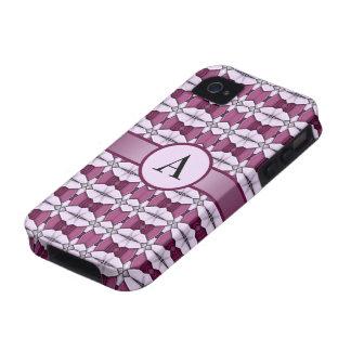 caja abstracta color de rosa rosada del iPhone 4 d iPhone 4/4S Fundas