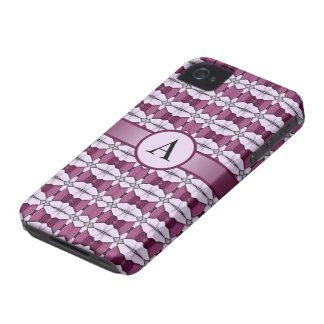 caja abstracta color de rosa rosada del iPhone 4 d iPhone 4 Cárcasas