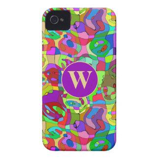 caja abstracta colorida del iPhone 4 del modelo iPhone 4 Case-Mate Cárcasa