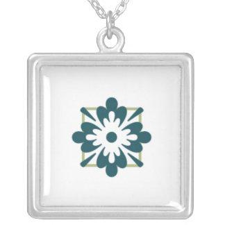 Caja abstracta de la flor colgante cuadrado