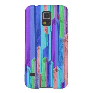 Caja abstracta de la galaxia de Samsung de las bar Carcasas Para Galaxy S5