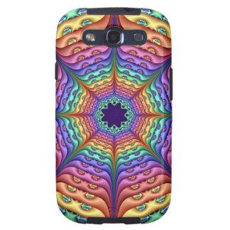 Caja abstracta de la galaxia de Samsung en colores Samsung Galaxy S3 Carcasa