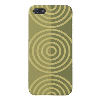 Caja abstracta de la mota de los círculos iPhone 5 carcasas