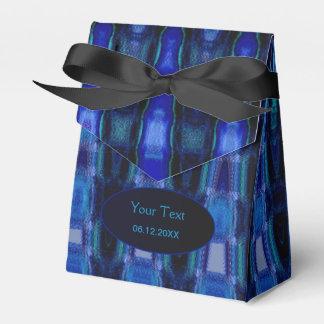 Caja abstracta del favor de fiesta del azul real caja para regalos de fiestas