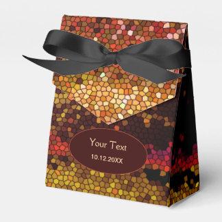 Caja abstracta del favor de fiesta del mosaico de cajas para regalos de fiestas