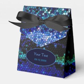 Caja abstracta del favor de fiesta del mosaico del caja para regalos de fiestas