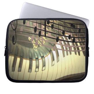 Caja abstracta del ordenador portátil del piano funda computadora