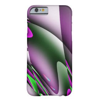 Caja abstracta del teléfono 5 de la púrpura I Funda De iPhone 6 Barely There