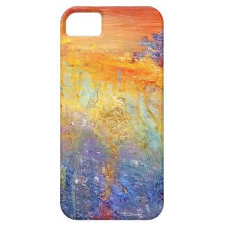 Caja abstracta del teléfono de la puesta del sol iPhone 5 Case-Mate fundas