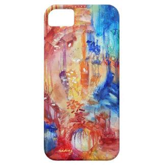Caja abstracta del teléfono de los arco iris iPhone 5 Case-Mate carcasa
